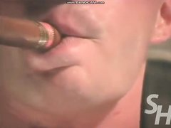 muscle god smokes cigar and gets off