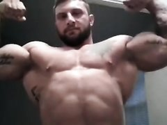 Huge Bodybuilder Flexing