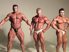 Three Muscle Men Posing