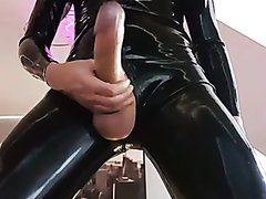 horny in rubber - video 2