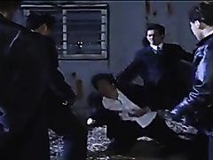 Gut punching handsome guy