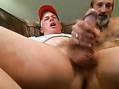 My Father getting handjob from the plumber