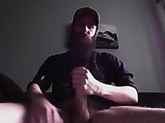 Beard jerking - video 2