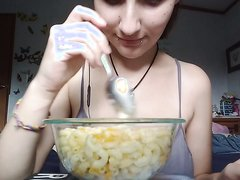 Teen Girl Swallow Noodle
