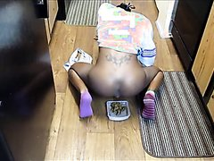 Ebony girl pooping video 2