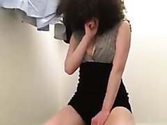 cute curly hair  girl pees on carpet for bf