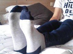 Guy showing his amazing feet