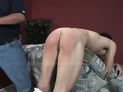 Boy Gets Spanked With A Slipper