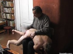twink severely punished- hand birch cane