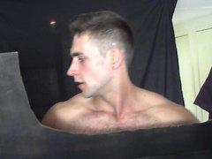 short clip --straight Aussie at gloryhole