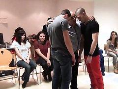 str8 guys dance under hypnosis