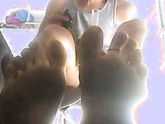 Smoking and dirty feet