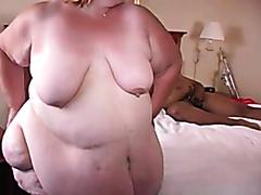 Super fat mature slut fucked hard