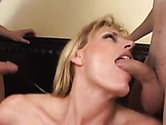 Sluts drilled by three big hard cocks