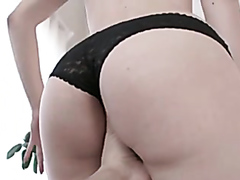 Cute girl sucks cock and takes it in the ass