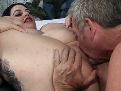 Tattooed fat slut fucked real hard