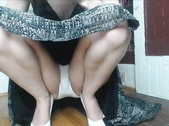 Upskirt panty tease - video 2