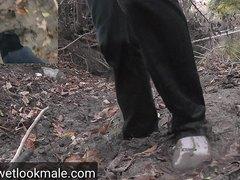 White socks mud