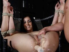 Teen Jackie get packed while soaked