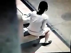 DM, Woman poos in public