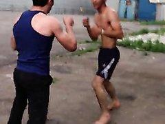 str8 Turkmen guys street fight