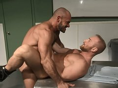 Hot muscle fucking and strong cum