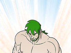 green hair hunk grows even bigger