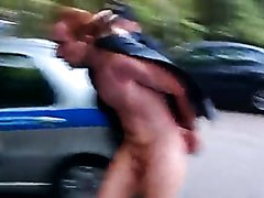 Hot Redhead Stud Fully Naked on the Streets Until He's Arrested (P2)