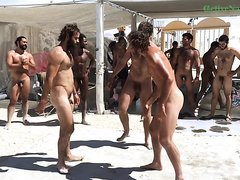 Beautiful Naturists Wrestling