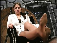 goddess vixen nylon foot worship