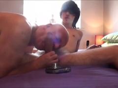 Old  Bear & Young Emo Webcam Fun