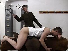 Army Caning over a Gym Horse