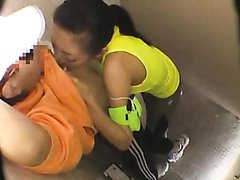Japanese jogger smells stinky man and suck his cock