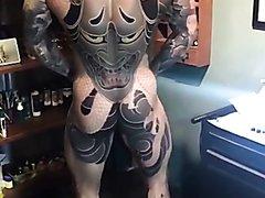 impressive back tattoo
