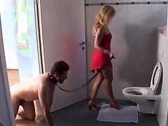 Femdom Brats humiliate slaves in toilets