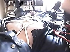 leatherbiker in bondage