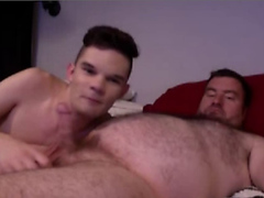 Young twink services fat dad