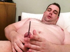 Pin in the penis of a fat guy