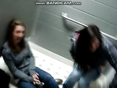 Teen Girl Peeing in the public Bathroom