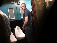 DRUNK GUYS PISSING IN URINAL