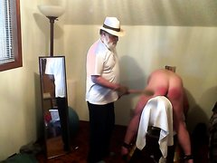 Man in Panama hat spank my ass hard
