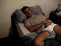sleeping guy's bulge
