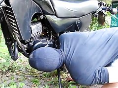 Motorcycle Master Abuses Slave
