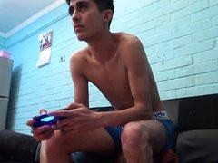Gamer facesitting