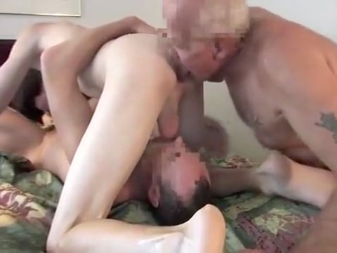 Gays mature threesome