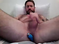 Guy with anal toys