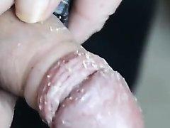 Im sounding my dirty smegma cock - video 2