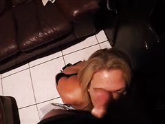 Horny milf sucking dicks like a pro