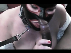 Fat sex slave and a black stud