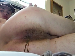Cute latin guy shows his dirty ass farting